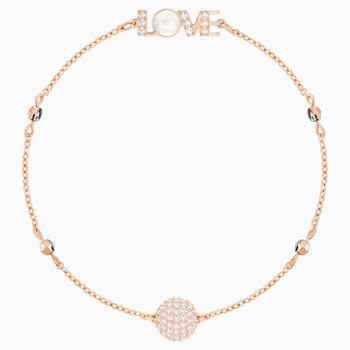 Swarovski Remix Collection Emotion Strand, White, Rose-gold tone plated