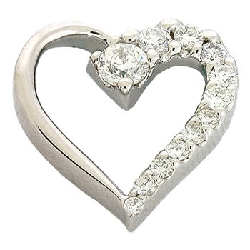 White Gold Journey Heart