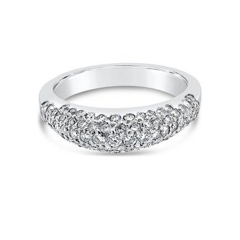 18K White Gold Modern Design Diamond Fashion Band