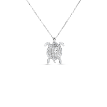 18Kt Gold Diamond Turtle Pendant
