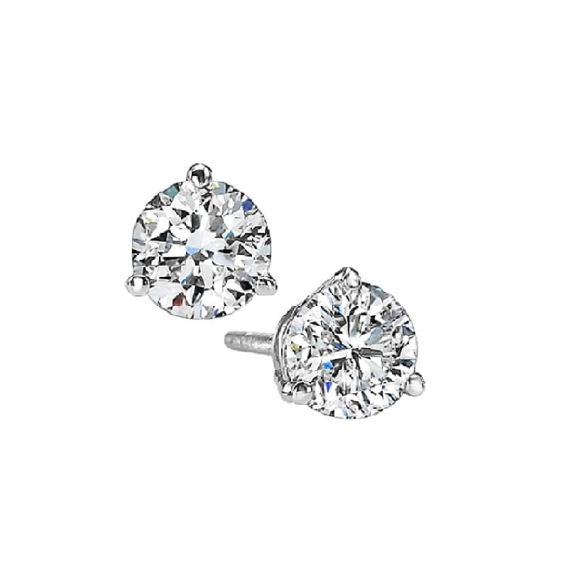 Gems One Martini Diamond Stud Earrings in 14K White Gold (1/4 ct. tw.) I1 - G/H