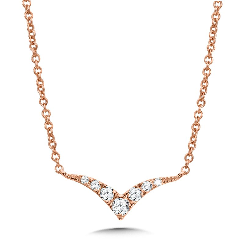 SDC Creations Curved Chevron Diamond Necklace