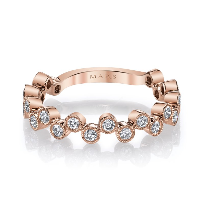 MARS Jewelry MARS 26202RG Stackable Ring, 0.50 Ctw.