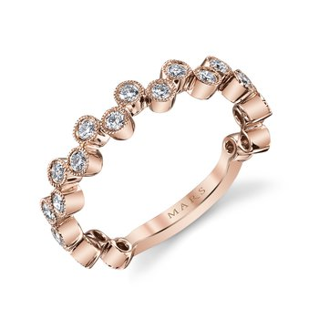 MARS 26202RG Stackable Ring, 0.50 Ctw.