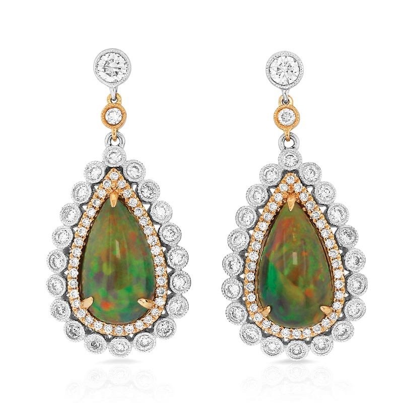 Yael Designs Jaumea Black Opal Earrings