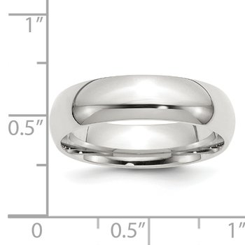 Sterling Silver 6mm Comfort Fit Band