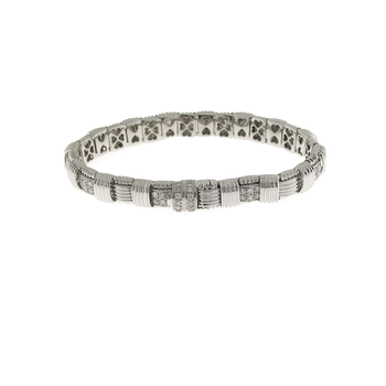 18KT GOLD SINGLE ROW BRACELET WITH DIAMONDS
