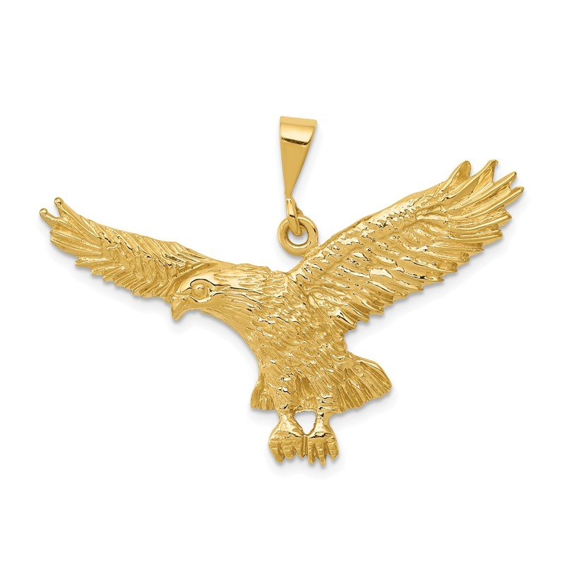 Quality Gold 14k Solid Polished Eagle Pendant
