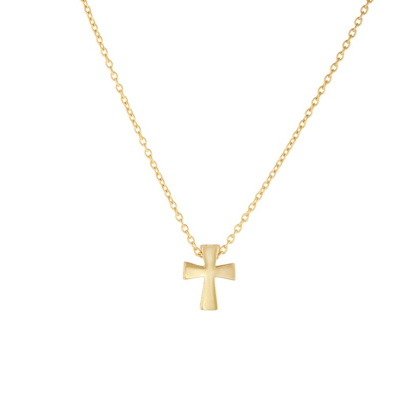 Royal Chain 14K Gold Mini Cross Necklace
