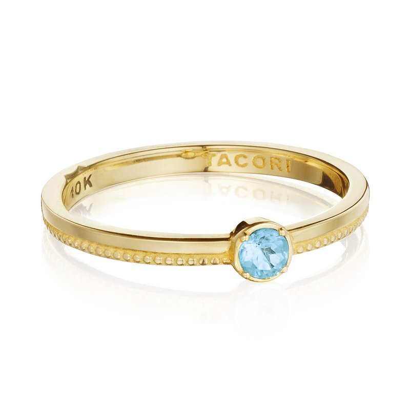Tacori Fashion Gemstone Band Ring w/ Swiss Blue Topaz