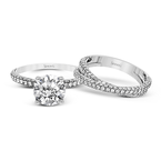 Simon G MR1577 WEDDING SET