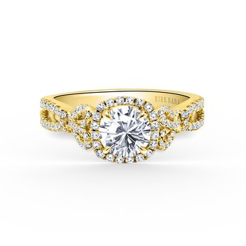 Joyful Halo Diamond Engagement Ring