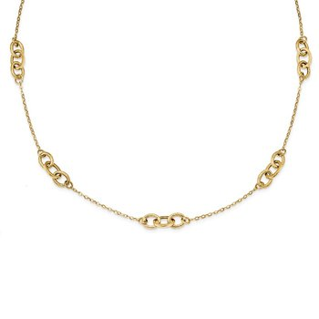 14k Yellow Gold Fancy 18 inch Necklace