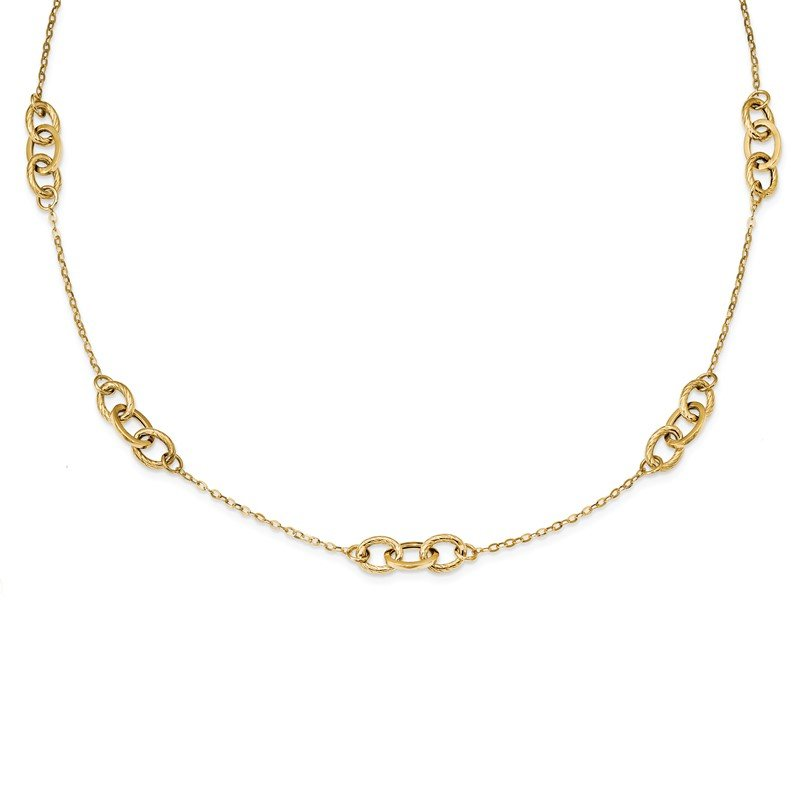 Quality Gold 14k Yellow Gold Fancy 18 inch Necklace