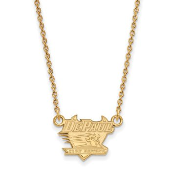 Gold-Plated Sterling Silver DePaul University NCAA Necklace