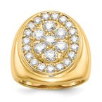 Quality Gold 14k AA Diamond men's ring