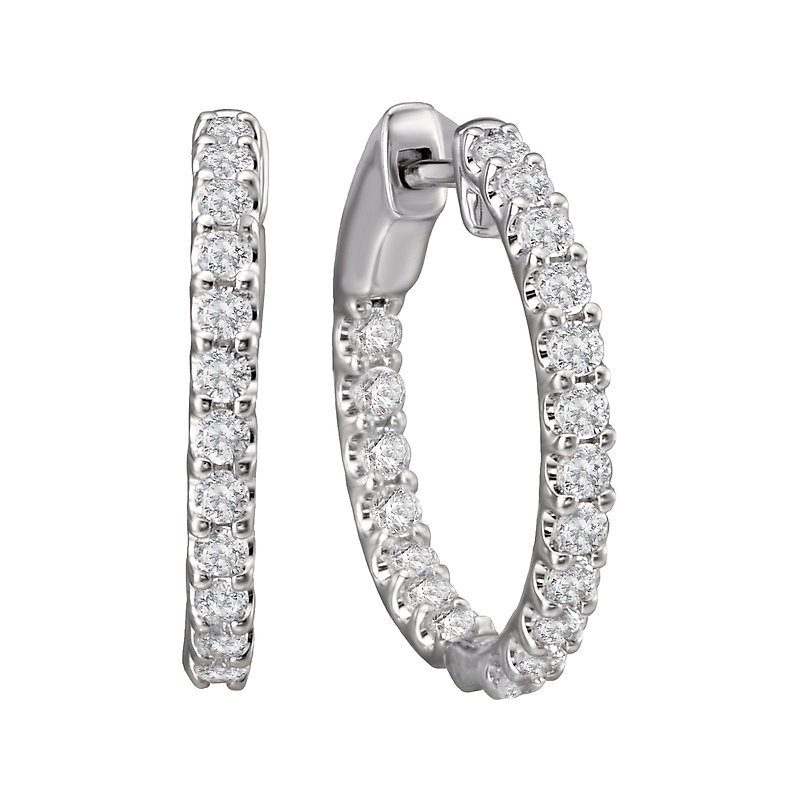 Tesoro In and Out Diamond Hoops