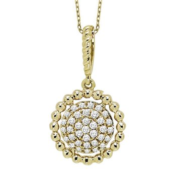 10K Diamond Pendant 1/7 ctw