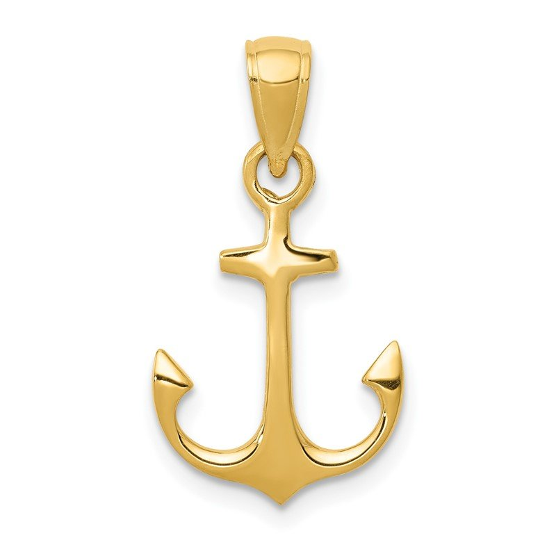Quality Gold 14k Anchor Pendant