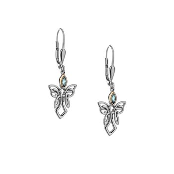 Guardian Angel Earrings (Blue Topaz)
