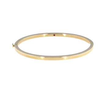 #26017 Of 18Kt White Oro Classic Oval Bangle