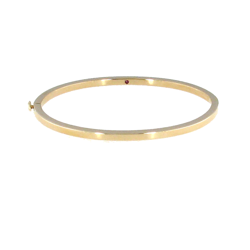 Roberto Coin  #26017 Of 18Kt White Oro Classic Oval Bangle