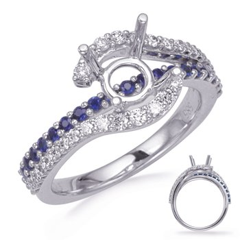 White Gold Sapphire & Diamond Engagement