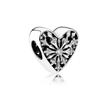 Heart of Winter Charm, Clear CZ