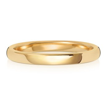18Ct Yellow Gold 2mm Soft Court Wedding Ring