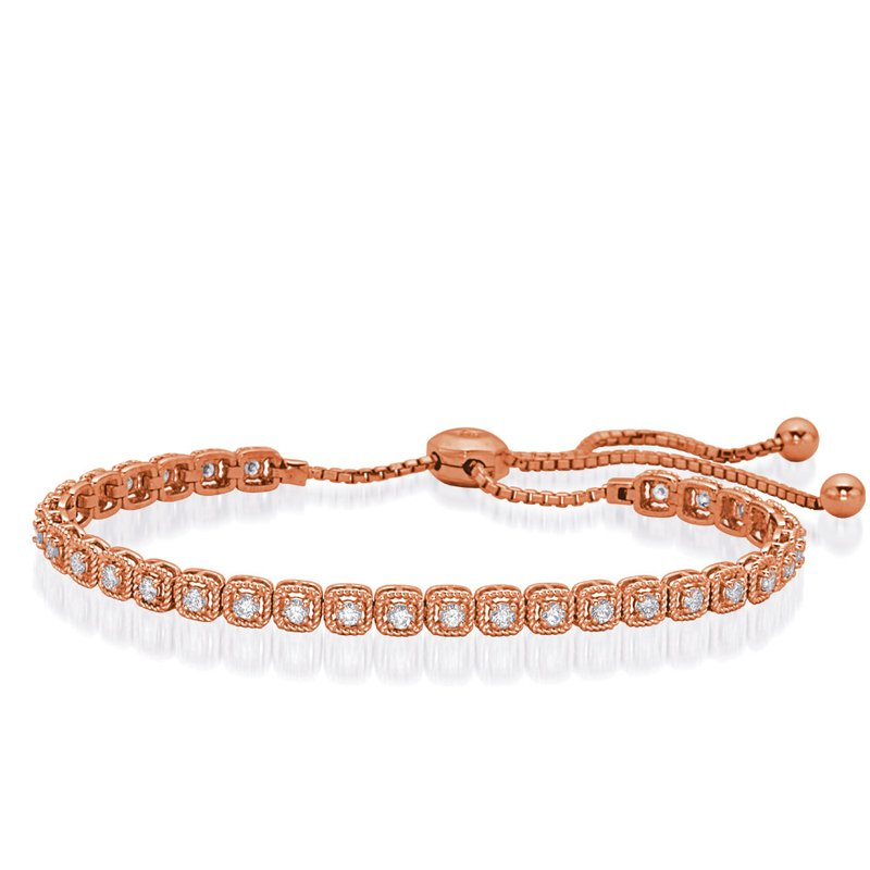 S. Kashi  & Sons Rose Gold Bolo Diamond Bracelet