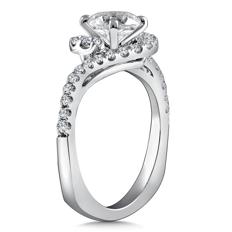 c2f1ad57216914 Stock # CR790W. Caro74 Diamond Engagement Ring Mounting in 14K White Gold  with Platinum Head (.51 ct. Caro74 Diamond Engagement Ring Mounting ...