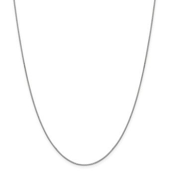 Leslie's 14K White Gold .9mm Box Chain