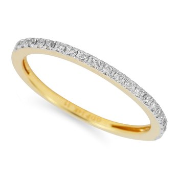 14K YG Diamond Wedding or Anniversary Band