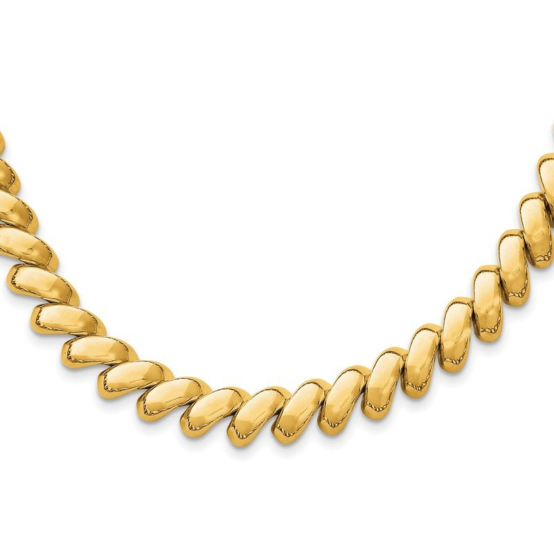 Quality Gold 14k Polished San Marco Necklace