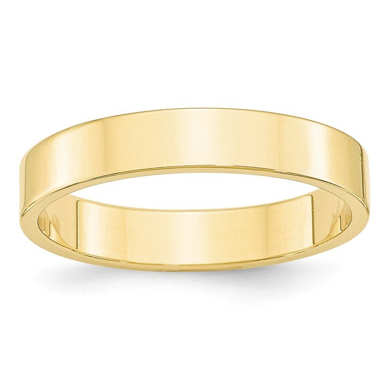Quality Gold 10KY 4mm LTW Flat Band Size 10