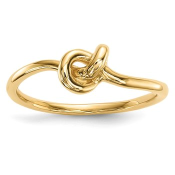14k Polished Knot Ring