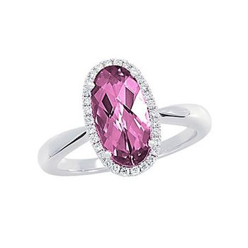 Pink Sapphire Ring-CR10423WPS