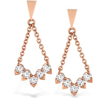 0.8 ctw. Aerial Diamond V Drop Earrings