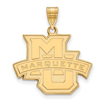 Gold-Plated Sterling Silver Marquette University NCAA Pendant