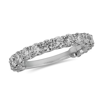 18K WG and diamond Eternity band in prong setting