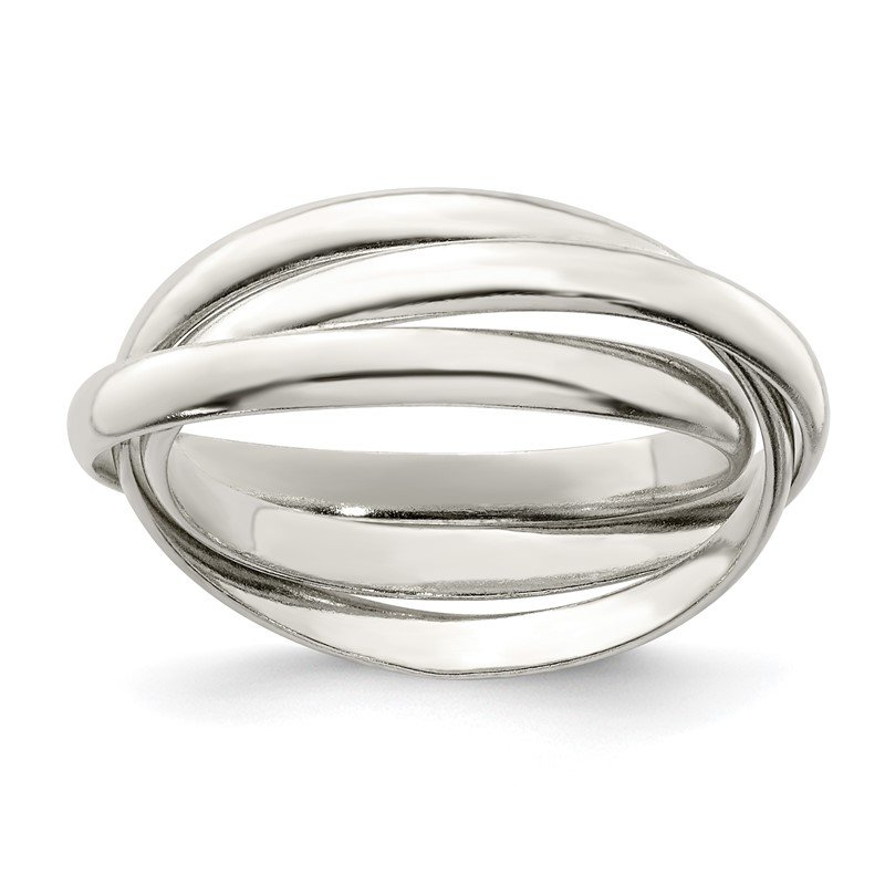 Quality Gold Sterling Silver Triple Intertwining Ring