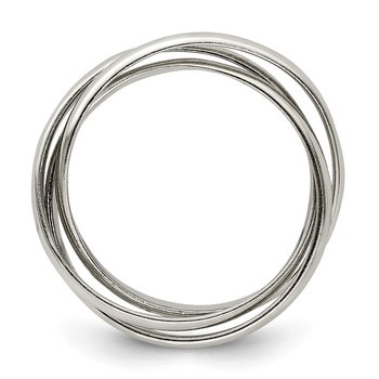 Sterling Silver Triple Intertwining Ring