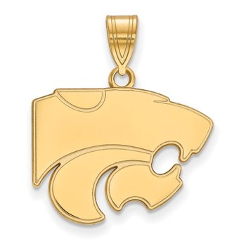 Gold Kansas State University NCAA Pendant