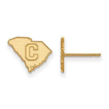 Gold-Plated Sterling Silver The Citadel NCAA Earrings