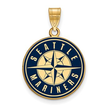 Gold-Plated Sterling Silver Seattle Mariners MLB Pendant