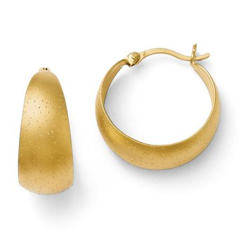 Leslie's SS Gold-plated Radiant Essence Hoop Earrings