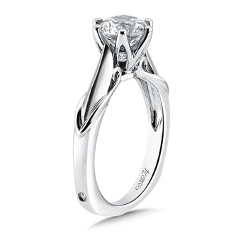 Round Six-Prong Solitaire Engagement Ring in 14K White Gold with Platinum Head (1-1/2ct. tw.)