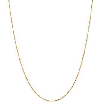 Leslie's 14K 1mm D/C Round Wheat Chain