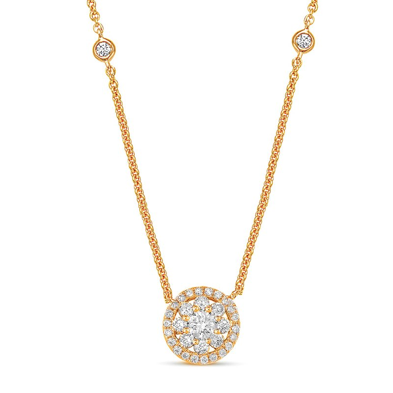 S. Kashi  & Sons Rose Gold Diamond Necklace