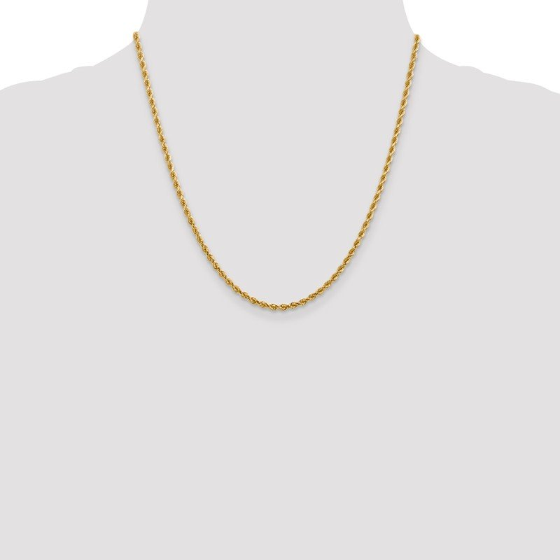 Leslie's Leslie's 14K 2.75mm Diamond-Cut Lightweight Rope Chain